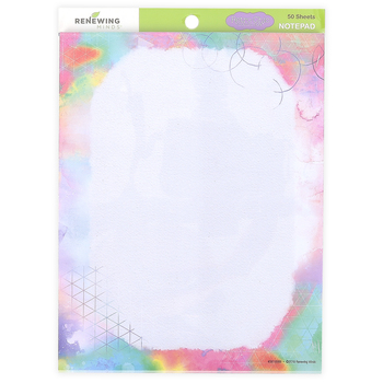 Retro Chic Collection, Rectangle Notepad, 6.25 x 8 Inches, Multi-Colored Watercolor, 50 Sheets