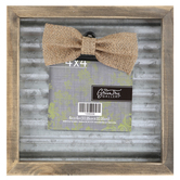 Wood and Metal Photo Clip Frame, 4 x 4 inches