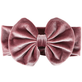 Creations Of Grace, Velvet Bow Headband, Pink Rose, 4 1/2 x 7 inches