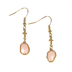 Modern Grace, Philippians 4:13 Cross with Geode Dangle Earrings, Gold and Pink