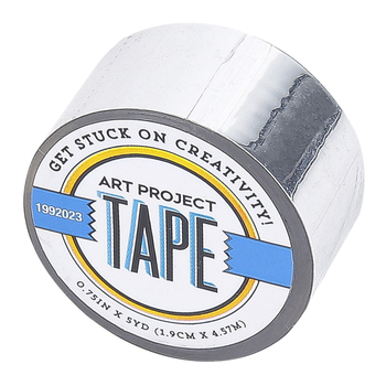 Silver Mirror Art Project Mini Washi Tape, 3/4 inches x 5 yards, 1 Roll