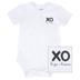 Stephan Baby, XO Hugs & Kisses Snap Shirt Onesie, Cotton & Spandex, White & Black, 6 to 12 Months