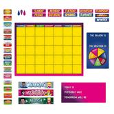 Superheroes Collection, Customizable Calendar Bulletin Board Set, Multi-colored, 103 Pieces