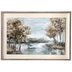 Trees By The River Framed Wall Decor, MDF and Canvas, Cream and Gray , 24 5/8 x 36 x 1 1/2 inches