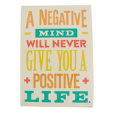 Renewing Minds, A Negative Mind Will Never Motivational Poster, 13.25 x 19 Inches, 1 Piece