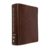 NKJV Journal The Word Bible, Large Print, Bonded Leather, Brown