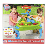 American Plastic Toys, Fish Pond Sand & Water Play Table, 25 1/2 x 27 inches