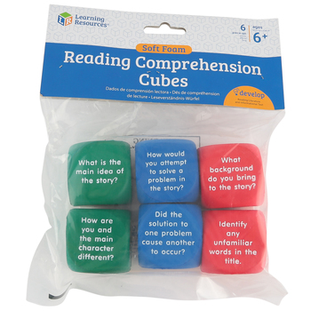 Learning Resources, Reading Comprehension Cubes, Set of 6, Multi-Colored, Grades 1 and up
