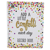 Teacher Created Resources, Confetti Record Book, Spiral, Multi-Colored, 64 Pages
