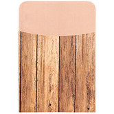 Renewing Minds, Self-Adhesive Library Pockets, 3.5 x 5.25 Inches, Brown Woodgrain, Pack of 25