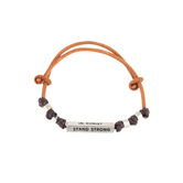 Kerusso, Stand Strong In Christ Faith Gear Mens Bracelet, Brown and Black