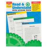 Evan-Moor, Read and Understand with Leveled Texts, Teacher Reproducible, 160 Pages, Grade 6