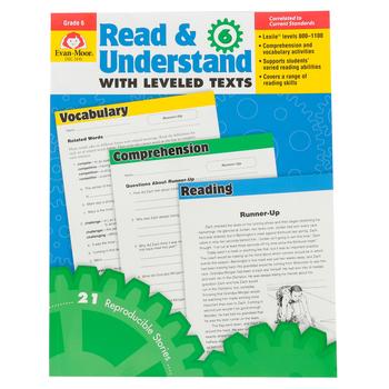 Evan-Moor, Read & Understand with Leveled Texts, Grade 6