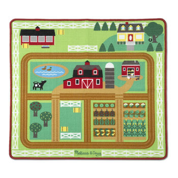 Melissa & Doug, Round the Barnyard Farm Rug, Ages 3 to 6 Years, 5 Pieces