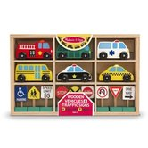 Melissa & Doug, Wooden Vehicles & Traffic Signs, Ages 3 to 6 Years, 15 Pieces