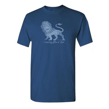 Gardenfire, Roaring Like a Lion, Men's Short Sleeve T-Shirt, Indigo,  S-2XL