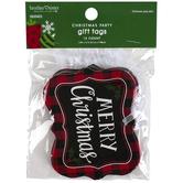 Brother Sister Design Studio, Merry Christmas Buffalo Check Gift Tags, Set of 12