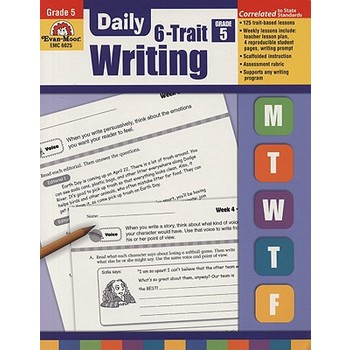 Evan-Moor, Daily 6-Trait Writing Teacher's Edition, Paperback, 160 Pages, Grade 5