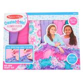 Melissa & Doug, Created By Me Flower Fleece Quilt Kit, 49 Pieces, Grades 1-6