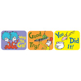 Eureka, Dr. Seuss Success Stickers, 1.38 x 1 Inch, Multi-Colored, Pack of 120