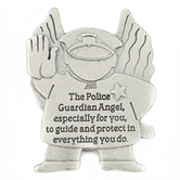 Abbey and CA Gift, Police Visor Clip, Pewter, 2 x 2 1/8 inches