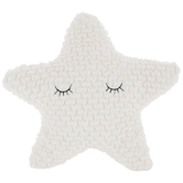 Plush Star Pillow, Polyester, Cream, 12 x 12 x 2 inches