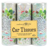 Natural Life, How Cool Is It Car Tissues, 180 Tissues, Set of 3