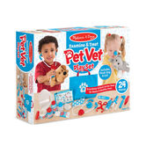 Melissa & Doug, Examine & Treat Pet Vet Play Set, Ages 3 and Older, 24 Pieces