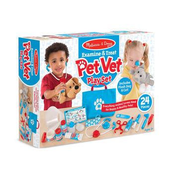Melissa & Doug, Examine & Treat Pet Vet Play Set, Ages 3 and Older, 24 Pieces