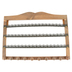 Jewelry Holder with Knobs, Wood and Metal, 17 1/2 x 13 x 9/16 inches