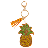 D.M. Merchandising, Olivia Moss, Dazzler Pineapple Keychain, Green and Yellow, 5 inches