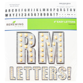 Renewing Minds, Galvanized Metal Marquee Bulletin Board Letters, Uppercase, 4 Inches, 176 Pieces