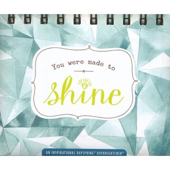 DaySpring, Made to Shine Perpetual Calendar for Women, Paper, 5-1/2 x 5-1/4 x 1-1/4 inches
