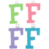Glitter Foam Alphabet Letter Upper Case - F, 4 x 5.5 x .50 Inches, 1 Each, Assorted Colors