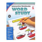 Carson-Dellosa, Interactive Notebooks Word Study Resource Book, Reproducible Paperback, Grade 1