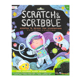 Ooly, Scratch & Scribble Art Kit, Space Explorers, 5 3/4 x 8 1/4 Inches, 19 Pieces