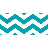 Renewing Minds, Wide Border Trim, 38 Feet, Turquoise and White Chevron