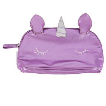 Stephen Joseph, Unicorn Shimmer Pouch, Polyurethane, Purple, 4 1/2 x 8 inches