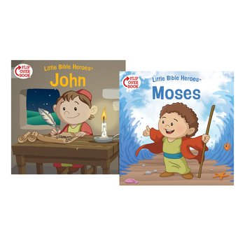 Little Bible Heroes, Moses and John, Flip-Over Book, by Victoria Kovacs, Paperback