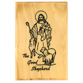 Logos Trading Post, The Good Shepherd Magnet, Olive Wood, 2 3/8 x 1 5/8 inches