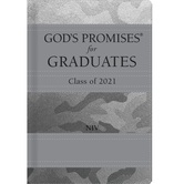 NIV God's Promises for Graduates: Class of 2021, by Jack Countryman, Hardcover, Silver Camouflage