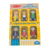 Melissa & Doug, Flexible Figures Family, Wood, 7 Pieces, Ages 3 and Older