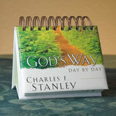 DaySpring, Charles Stanley Gods Way Day by Day Perpetual Calendar, Paper, 5 1/2 x 5 1/4 x 1 1/4 inches