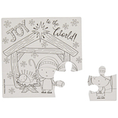 Brother Sister Design Studio, Christmas Crafts, Joy To The World Nativity Puzzles, 24 Puzzles