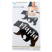 Momenta, Mama and Baby Bear Iron On Applique, DIY, 2 Pieces