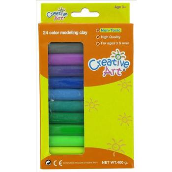 Creative Art, Modeling Clay, 24 Colors