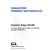 Primary Math Answer Key 4A-6B