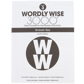 Wordly Wise 3000 4th Edition Answer Key Book 3, Paperback, Grade 3