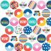 Colorfetti Collection, Mini Incentive Stickers, Multi-Colored, Pack of 1050