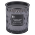 Darsee & David's, Olive Oil, Thyme & Patchouli Diamond Patterned Jar Candle, Dark Gray, 10 Ounces